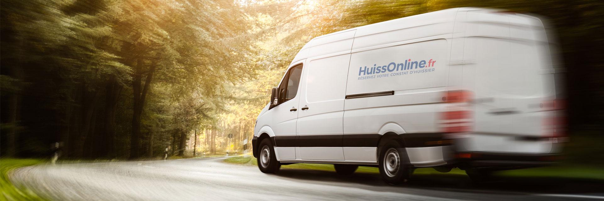 Camion de livraison HuissOnline